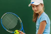 Young Girl Tennis Racket